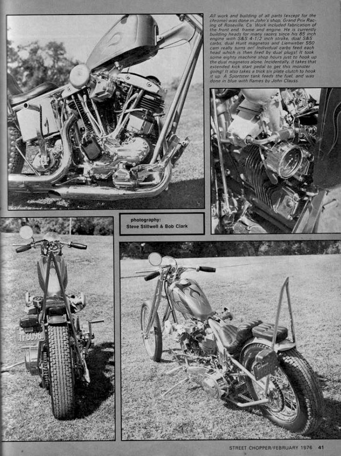 john harman spirder chopper motorcycle magazine article 4 glorious