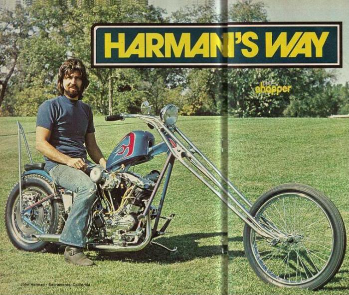 john harman spirder custom motorcycle street chopper magazine
