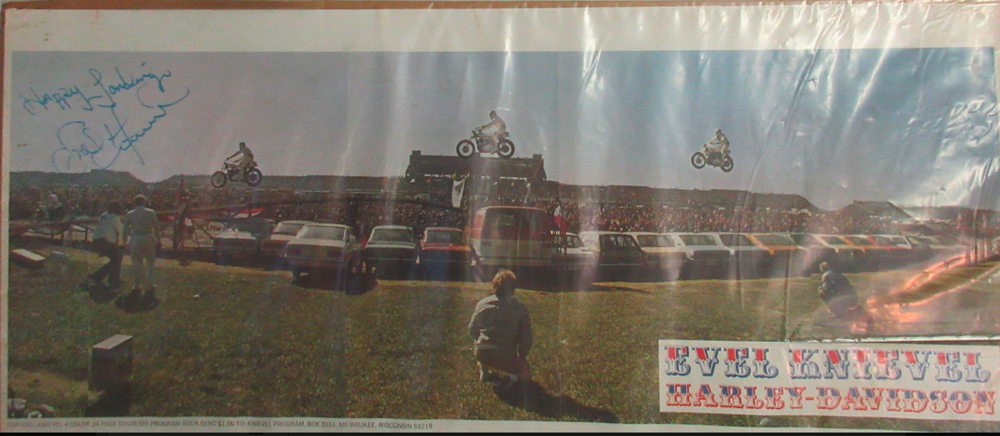 Signed Vintage Poster by Evel Knievel at Mecum Auctions